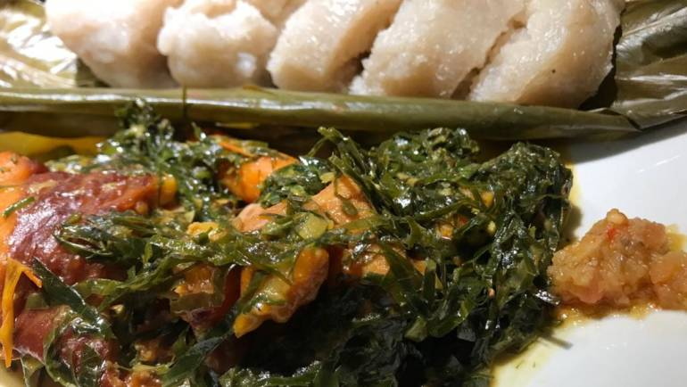 Fumbwa- Congolese Wild Spinach Stew